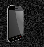 Smart phone network icon background Stock Images