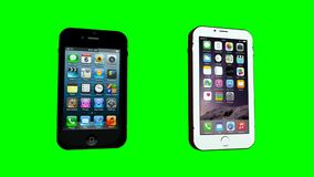 IPhone - Green Screen stock video