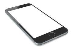 IPhone gris 6 del espacio con la pantalla en blanco Fotos de archivo