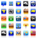 Iphone holiday icon set Stock Image