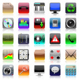 Iphone icon set Royalty Free Stock Image