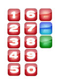 Iphone icons. Its are icons made for iphone or ipod touch. Also, it includes three blank buttons. You can put on it anything you want Stock Images