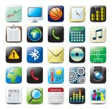 iPhone icons stock illustration