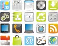 IPhone icons Stock Photo