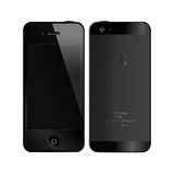 IPhone5. An illustration of the new black iPhone 5. An additional Vector file available. (you can use elements separately Stock Images