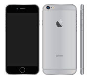 Iphone 6. An illustration of the new silver iphone 6 stock photography
