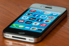 IPhone with Ios7 Royalty Free Stock Images