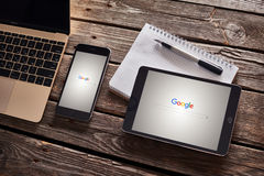 IPhone 6和iPad 免版税库存图片