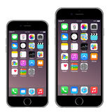 Iphone 6 Iphone 6 plus. Iphone 6 4.7 Iphone 6 plus 5.5  illustration eps10 Stock Photos
