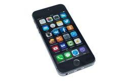 IPhone isolato 5s Fotografie Stock