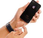 iphone jabłczane naprawy Zdjęcie Stock
