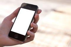iphone jabłczany szablon Zdjęcia Stock