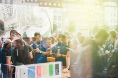 IPhone 6 launch event on a sunny day Royalty Free Stock Photo