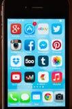 IPhone met Ios7 Royalty-vrije Stock Afbeelding