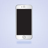 Iphone. Mockup vector white iphone  before Stock Image