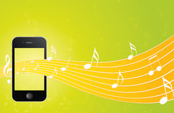 IPhone with music background Stock Images