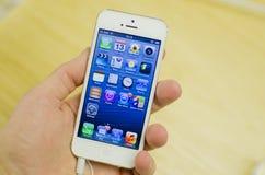 Bianco di Iphone 5 Fotografie Stock Libere da Diritti