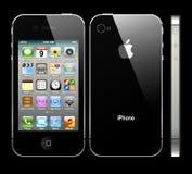 IPhone nero 4S con il profilo Immagine Stock Libera da Diritti