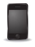 iPhone noir Photographie stock libre de droits