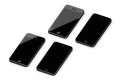 IPhone 5 op een witte oppervlakte Stock Afbeelding