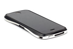Iphone op witte achtergrond Stock Foto's