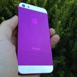 Iphone púrpura Foto de archivo libre de regalías
