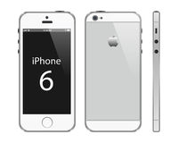 Iphone 6 plus. Illustration of a new Apple Iphone 6 plus isolated on white background stock illustration