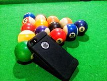 IPhone and pool Stock Photos