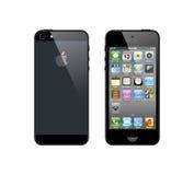 iPhone preto 5 ilustração do vetor
