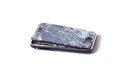 Iphone quebrado de Apple foto de stock