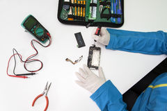 IPhone repairing Stock Images