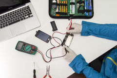 IPhone repairing Stock Photo
