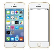 Iphone 5s. Apple iphone 5s gold vector illustration eps 10 Vector Illustration