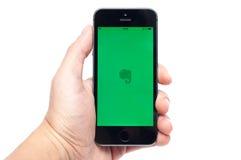 IPhone 5S con Evernote app Fotografia Stock Libera da Diritti