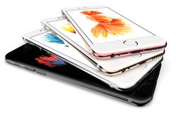 IPhone 6s. Cracow, Poland, November 19 2015: Presentation of new models iPhone 6s from Apple Inc royalty free stock photos