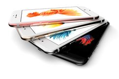IPhone 6s. Cracow, Poland, November 19 2015: Presentation of new models iPhone 6s from Apple Inc royalty free stock photography
