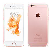IPhone 6S de Rose Gold Apple Photo libre de droits