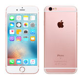 IPhone 6S de Rose Gold Apple Images libres de droits