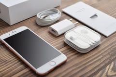 IPhone 6S di Apple Rose Gold Fotografia Stock