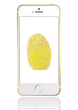 Iphone 5s 3. Iphone 5s with fingerprint identification function stock image