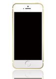 Iphone 5s 5. A golden and white Iphone 5s stock photos