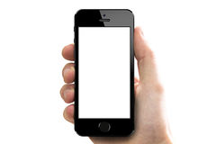 Iphone 5s in hand Royalty Free Stock Photography