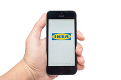 IPhone 5s with IKEA app Royalty Free Stock Photography