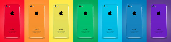 Iphone 5s. New Iphone 5s peace color flag Royalty Free Stock Photos