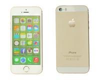 Iphone5s op wit Royalty-vrije Stock Foto