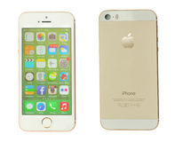 Iphone5s su bianco Fotografia Stock Libera da Diritti