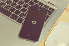 IPhone 5s with VSCO app Stock Photography