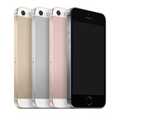 Iphone se. New iPhone 2016 in different colors on a white background stock image