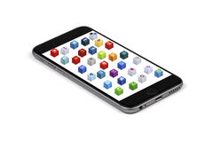 Iphone 6 social media Royalty Free Stock Image
