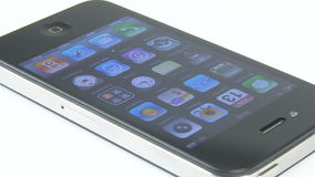 IPhone 4 Studio Shot Loop (Editorial Video) stock footage